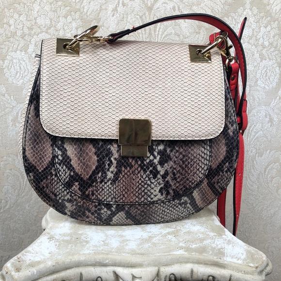 8b7c015d863 Aldo Handbags - Aldo Snake Print Cross Body Purse